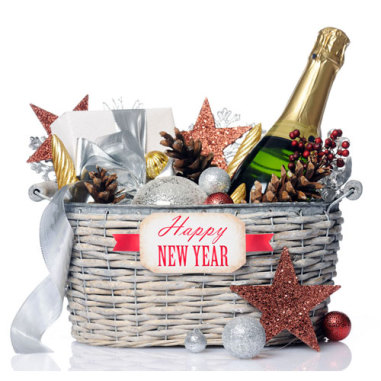 New Years Gift Basket